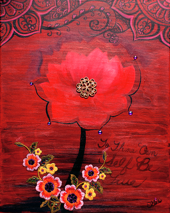Red Painting - To Thine Own Self Be True by Eleanor Hofer