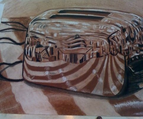 Toaster Drawing - Toaster Reflection by Travis  Ko