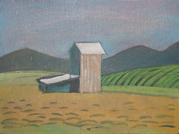 Southern Landscape Painting - Tobacco Barn by Chris Cook