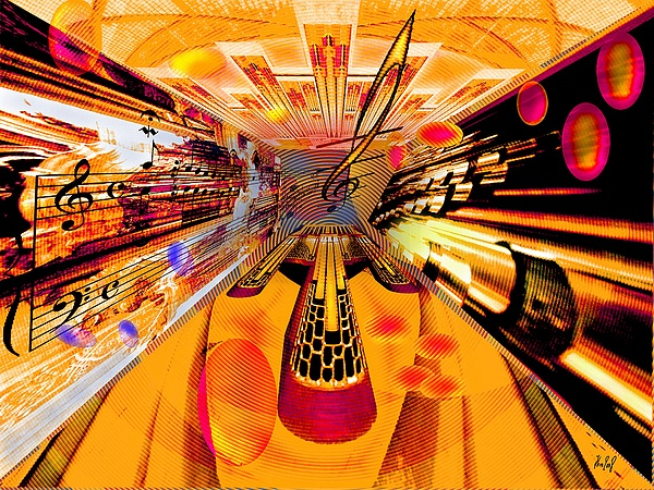 Toccata Digital Art - Toccata- Masters View by Helmut Rottler