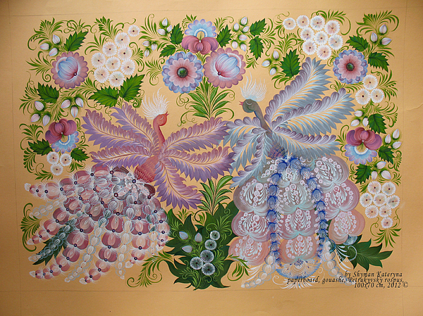 Birds Painting - Together by Kateryna Wiman