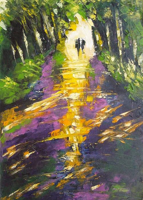 Landscape Painting - Together by MiMa Kostova