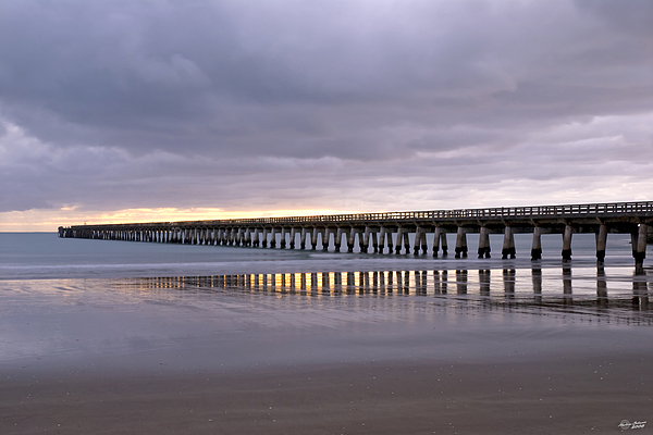 New Zealand Photograph - Tolaga Bay Pier by Andrea Cadwallader