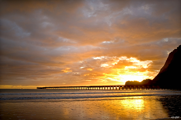 Bay Photograph - Tolaga Bay Pier IIi by Andrea Cadwallader