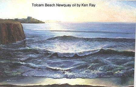 Tolcairn Beach Painting by Ken Ray