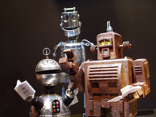 Robots Mixed Media - Tom Dick And Harry by Steve Howarth