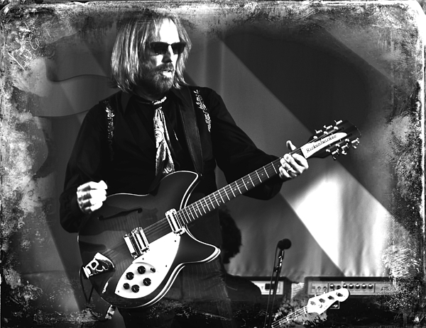 Tom Petty Guitar  Rock And Roll Music Artist Photograph - Tom Petty 2 by Lucrecia Cuervo