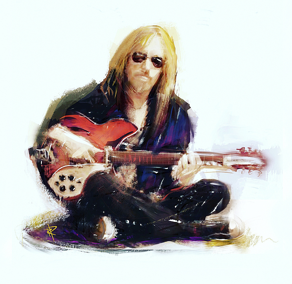 Tom Petty Mixed Media - Tom Petty by Russell Pierce