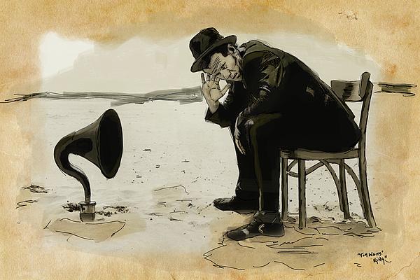 Tom Digital Art - Tom Waits by Sean King