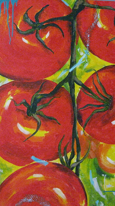 Tomatoes Painting - Tomatoes by Terri Rodstrom