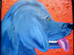 Pet Portraits Painting - Tongue Wag by Suzanne Filotei