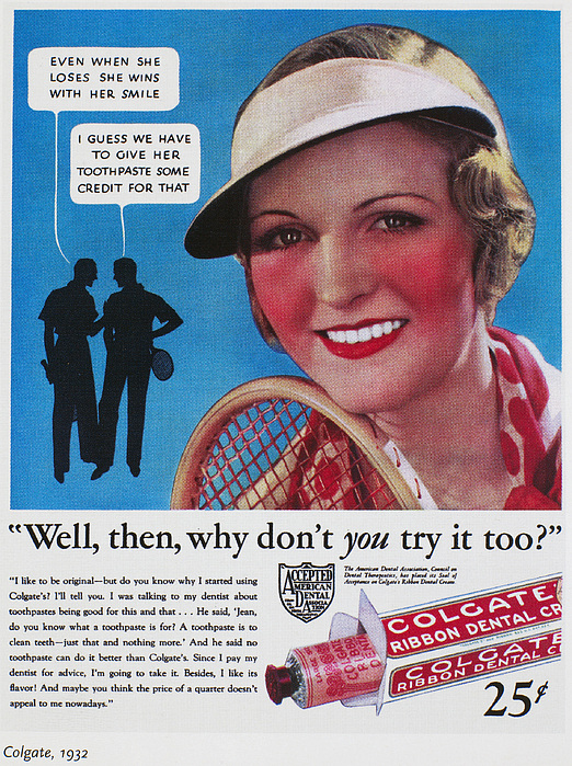 1932 Photograph - Toothpaste Ad, 1932 by Granger