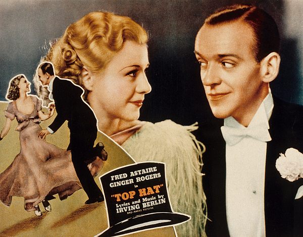 1930s Movies Photograph - Top Hat, Lobbycard, Ginger Rogers, Fred by Everett