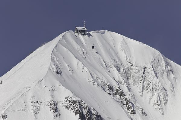 Lone Peak Photograph - Top Of The Tram by Mark Harrington