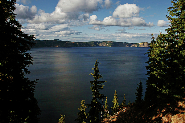 Peaceful Photograph - Top Wow Spot - Crater Lake In Crater Lake National Park Oregon by Christine Till