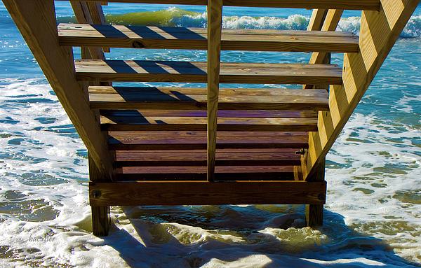 Beach Photograph - Topsail Island Ocean Steps by Betsy Knapp