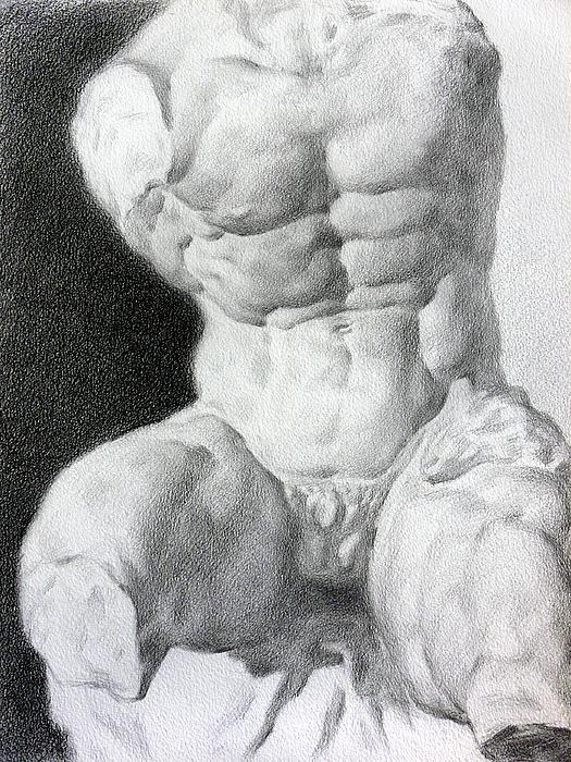 Nude Drawing - Torso 1 by Valeriy Mavlo