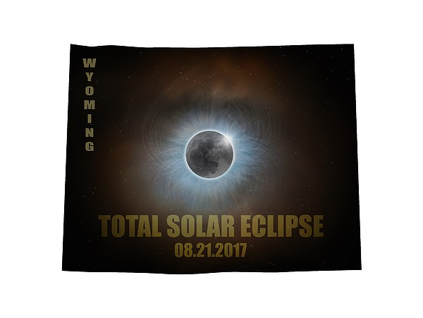 Total Solar Eclipse In Wyoming Map Outline Photograph by David Gn