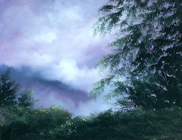Fog Painting - Touch Of Blue by Sally Seago