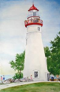 Touring Marblehead Lighthouse Painting by Bev Chudey