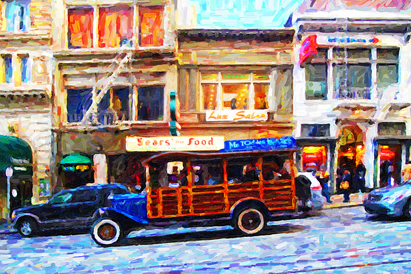 Stockton Street Photograph - Touring The Streets Of San Francisco by Wingsdomain Art and Photography