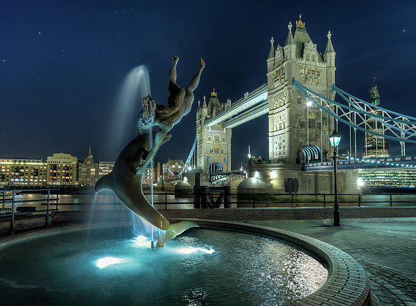 Horizontal Photograph - Tower Bridge In London by Vulture Labs