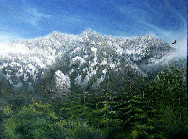 Mountains Painting - Towers by Ulysses Albert III