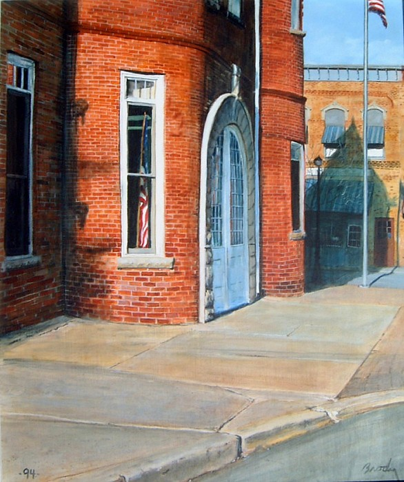 Realistic Painting - Town Hall by William  Brody