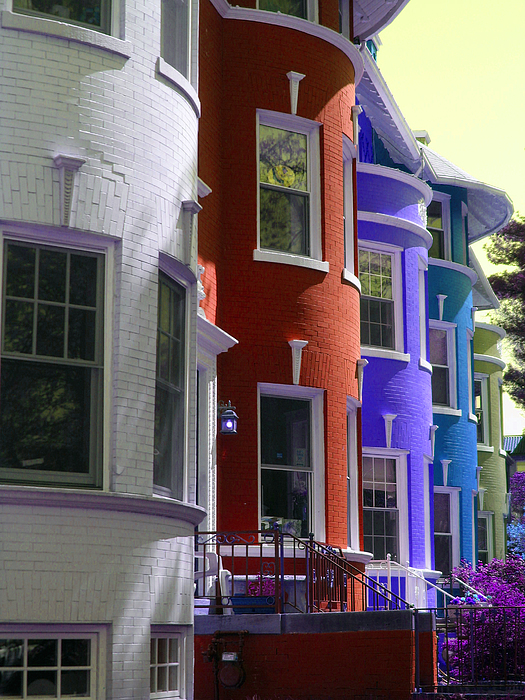 Townhouses Photograph - Townhouse Row 2 by Sean Owens
