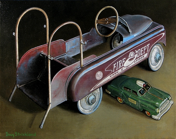 Antique Painting - Toy Crossroads by Doug Strickland