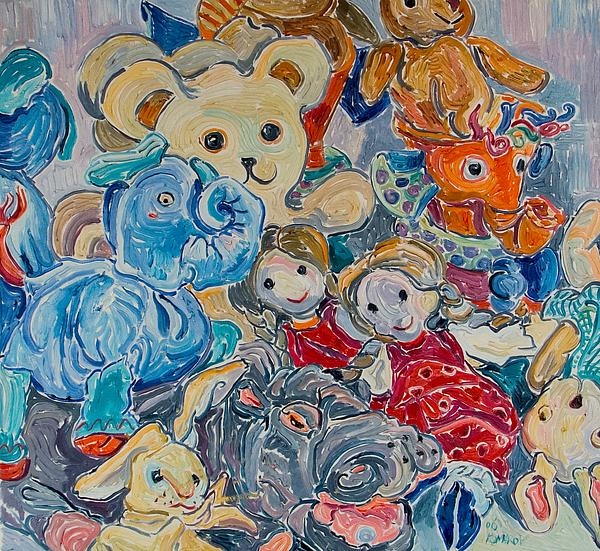 Toys Painting - Toys by Vitali Komarov