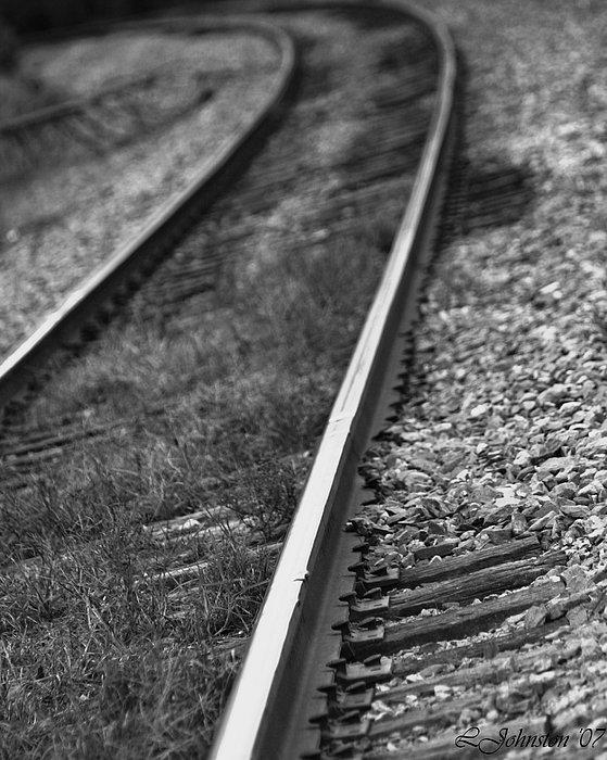 Train Photograph - Track by Lisa Johnston