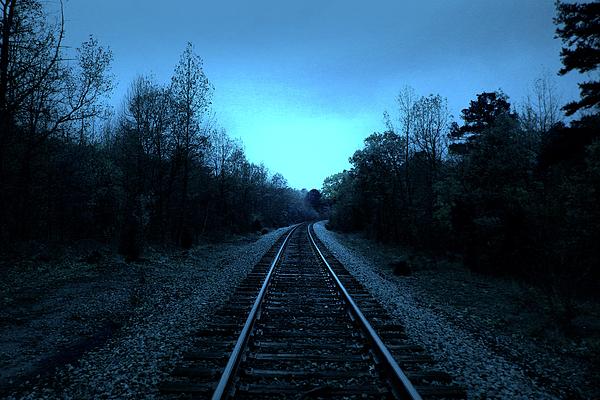 Landscape Photograph - Tracks Of Dawn by Nina Fosdick
