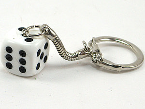 Bunco Jewelry - Traditional Die Keychain by World of Dice
