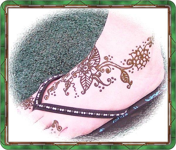 Henna Tattoos Painting - Traditional Mehdi Design by Henna Tattoos Ogden Utah