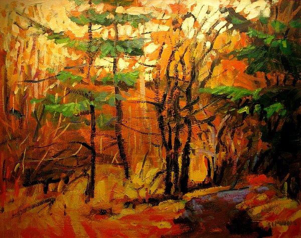 Landscape Paintings Painting - Trail by Brian Simons