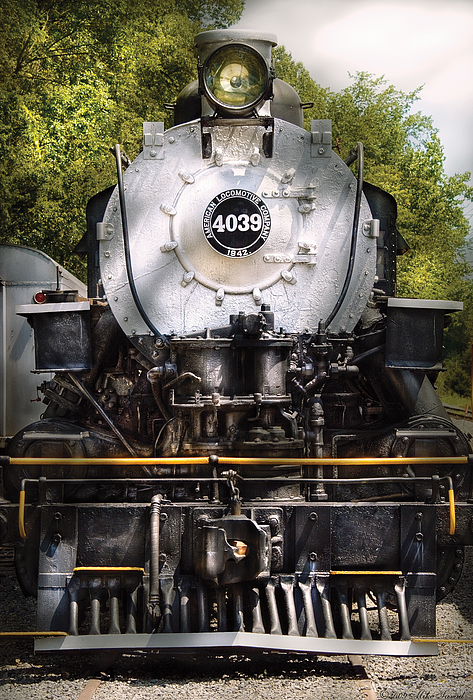 Savad Photograph - Train - Engine - 4039 American Locomotive Company  by Mike Savad