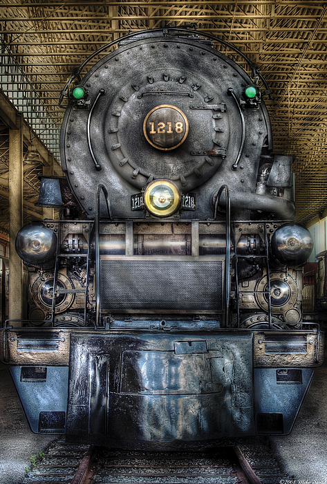 Savad Photograph - Train - Engine -1218 - Norfolk Western Class A - 1218 - Front View by Mike Savad