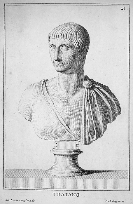 2nd Century Photograph - Trajan (c52-117) by Granger