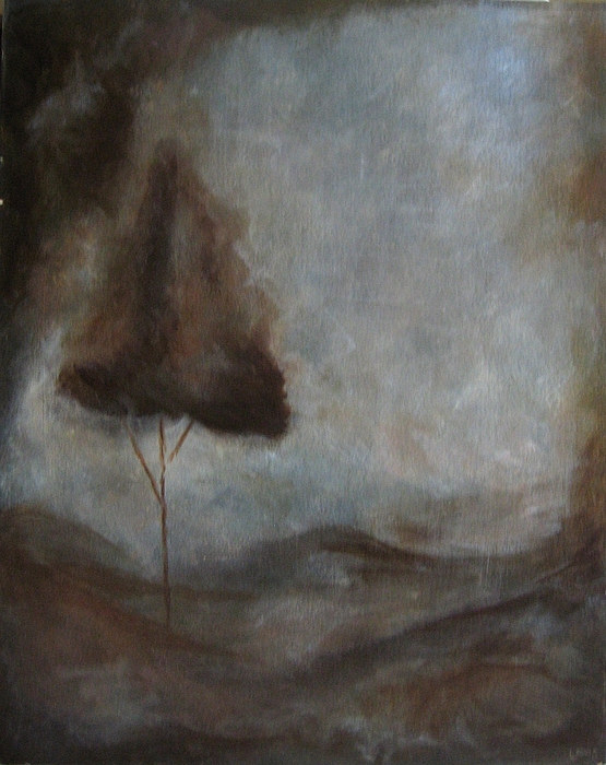 Brown Painting - Tranquility by Ellen Lewis