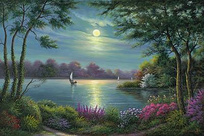 Tranquility Painting by Suleyman Mavruk