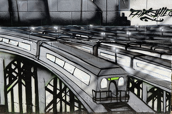 Graffiti Photograph - Transporters by Bob Christopher
