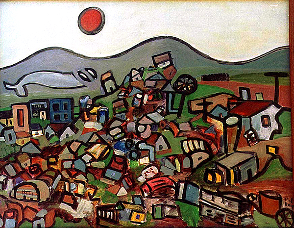 Montain Painting - Trash Montain by Michael Keogh