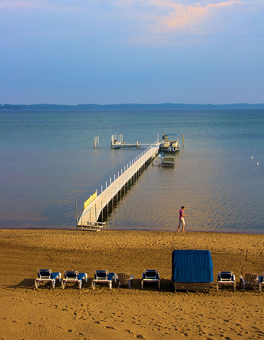 Water Photograph - Traverse City East Bay by Don  Vella
