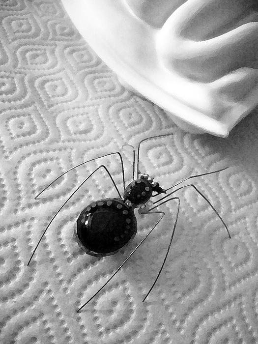 Spider Photograph - Treasure by Lisandro Baibiene