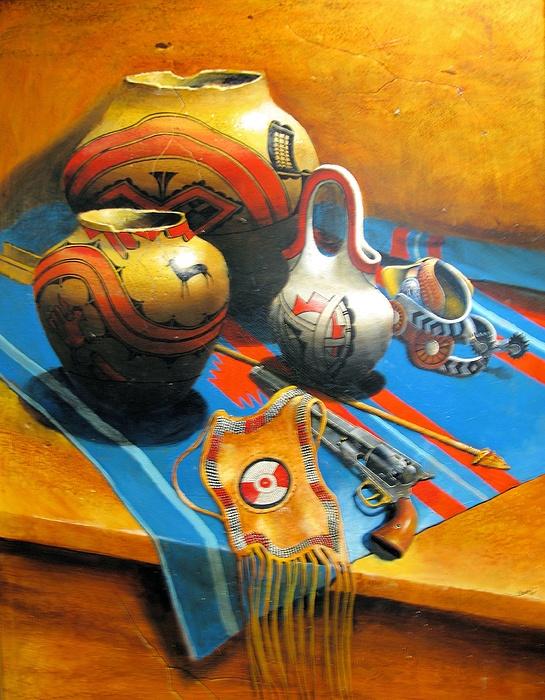 Stillife Painting - Treasures by Robert Carver