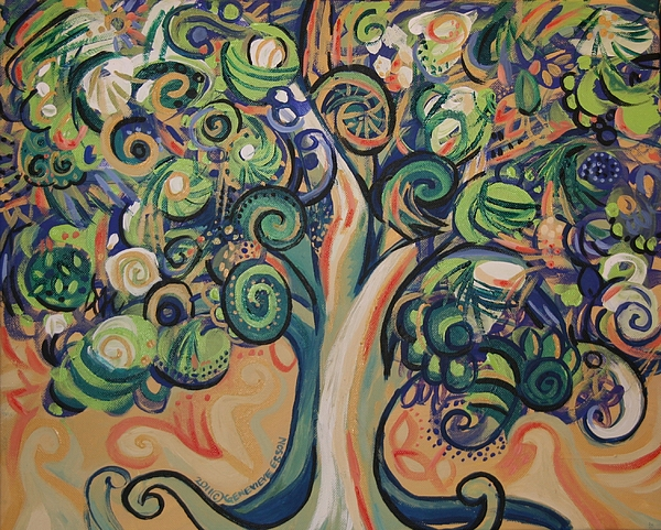 Tree Painting - Tree Candy by Genevieve Esson