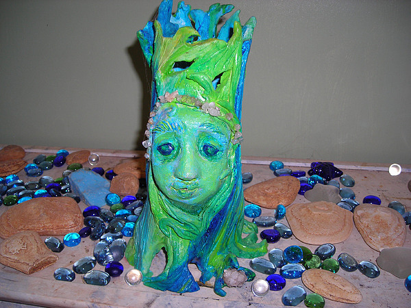 Legends Mixed Media - Tree Goddess  by Diane Sellers
