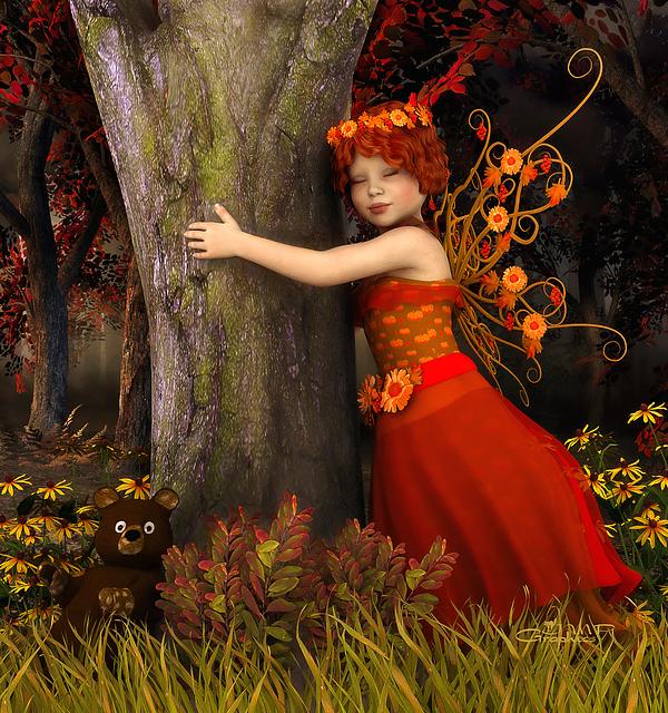 3d Digital Art - Tree Hug by Jutta Maria Pusl
