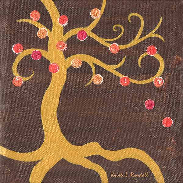 Tree Painting - Tree Of Life - Left by Kristi L Randall